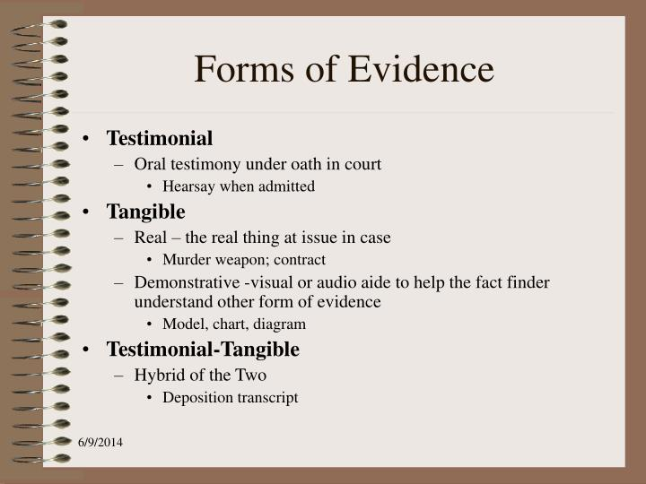 Forms of Evidence