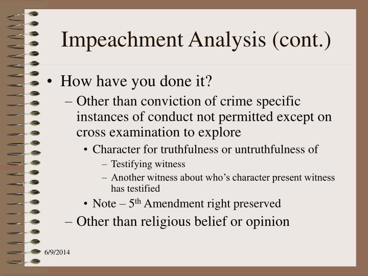 Impeachment Analysis (cont.)