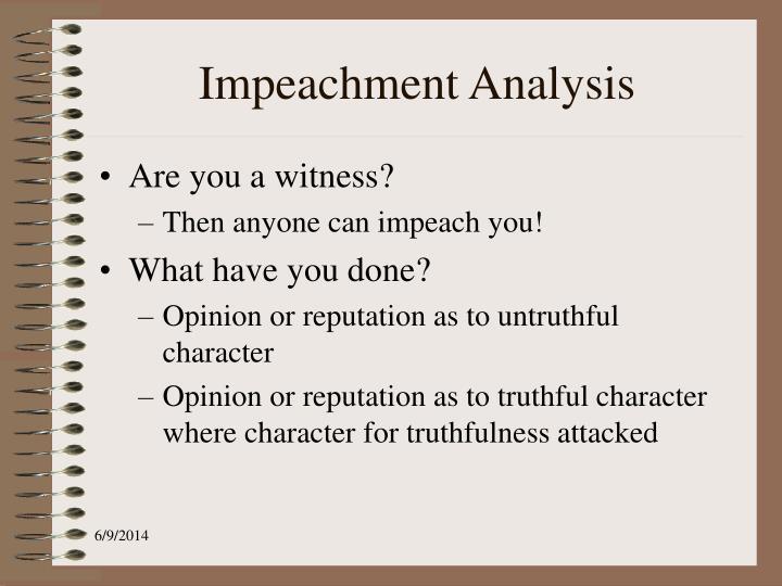 Impeachment Analysis