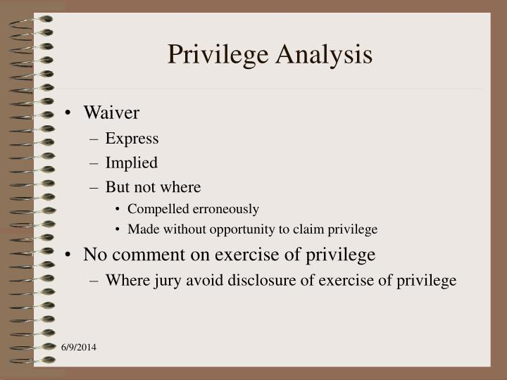 Privilege Analysis