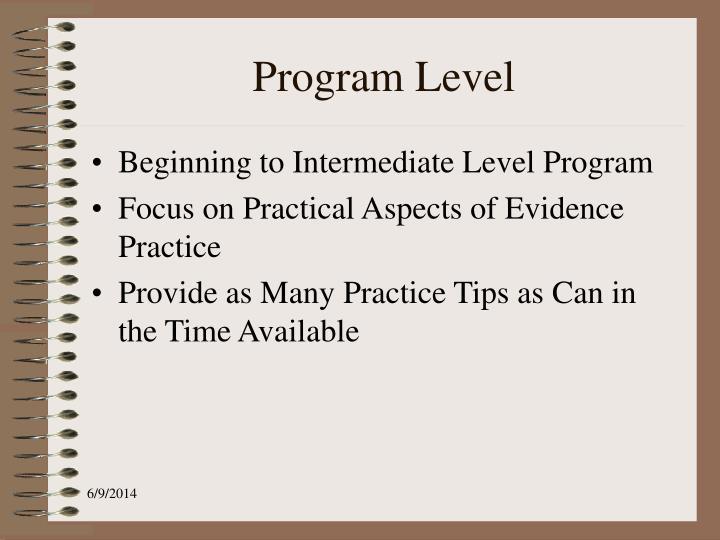 Program Level