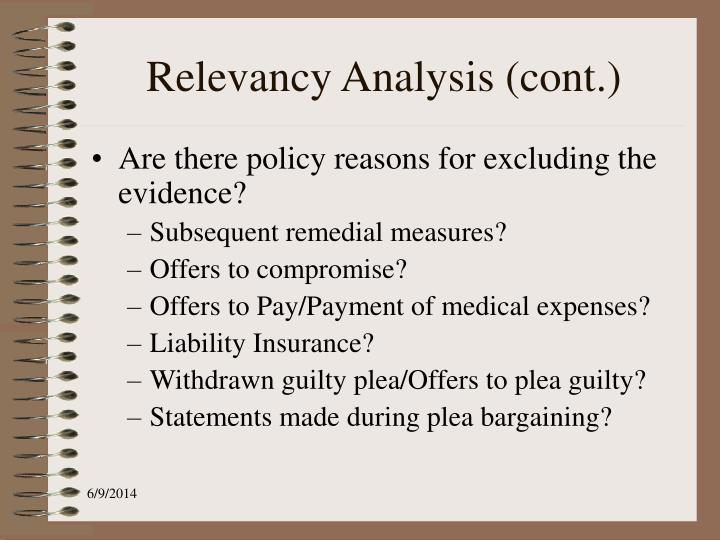 Relevancy Analysis (cont.)