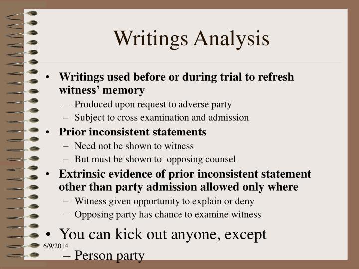 Writings Analysis