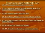 maryland agricultural law5