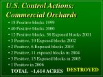 u s control actions commercial orchards