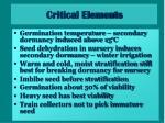 critical elements