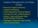 irrigation management and water quality9