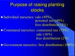 purpose of raising planting stocks