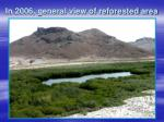 in 2006 general view of reforested area