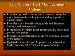 the nursery pest management calendar