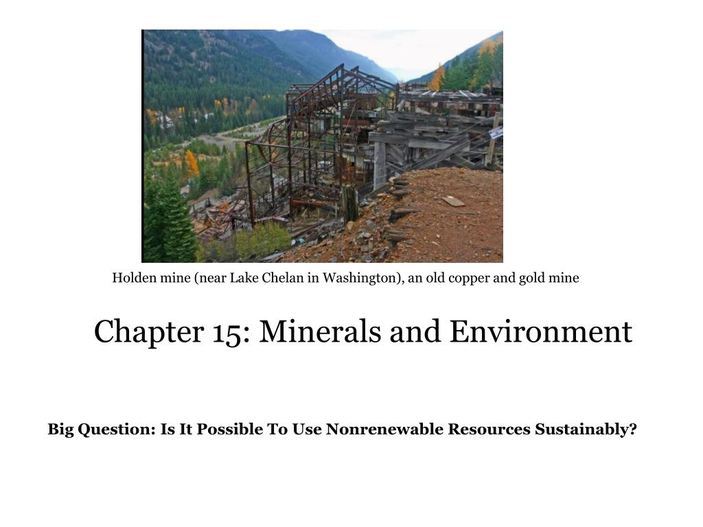 chapter 15 minerals and environment l.