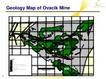 geology map of ovacik mine