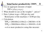 total factor productivity tfp