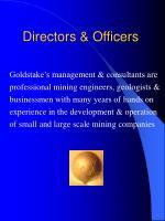 directors officers