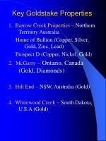 key goldstake properties