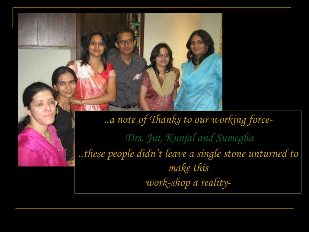 ..a note of Thanks to our working force-