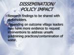 dissemination policy impact