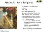 asm gold facts figures