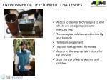 environmental development challenges