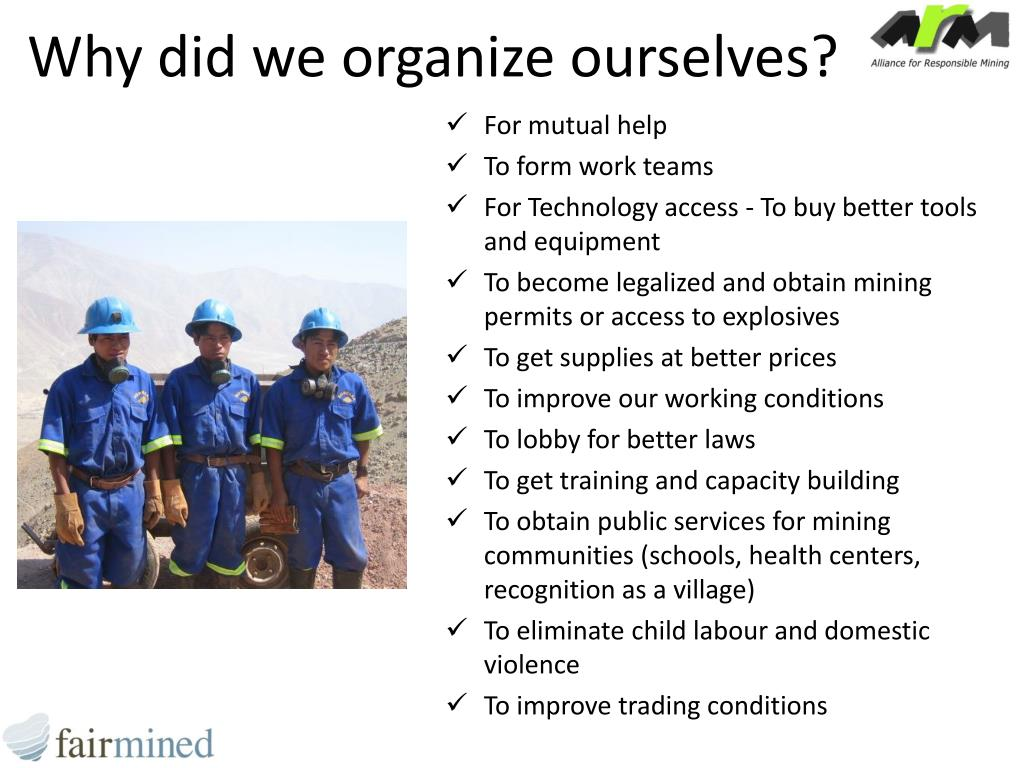 Why did we organize ourselves?