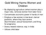 gold mining harms women and children