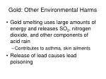 gold other environmental harms