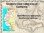 geysers clear lake area of california