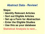 abstract data review