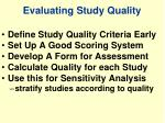 evaluating study quality