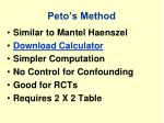peto s method