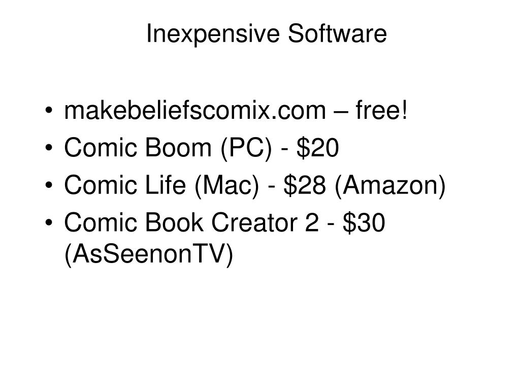 Inexpensive Software