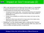 impact on gov t revenues 2