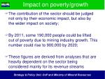impact on poverty growth