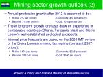 mining sector growth outlook 2