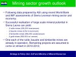 mining sector growth outlook
