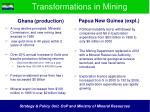 transformations in mining