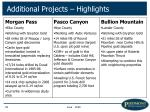 additional projects highlights