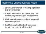 piedmont s unique business model