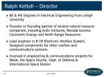 ralph kettell director