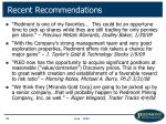 recent recommendations