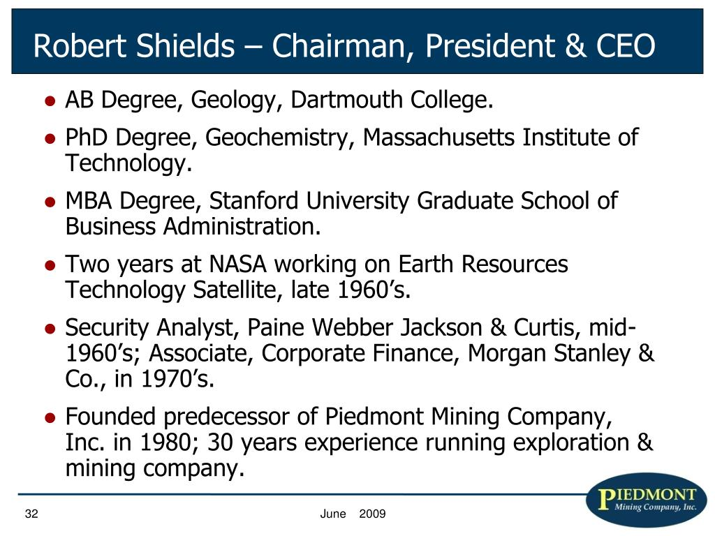 AB Degree, Geology, Dartmouth College.