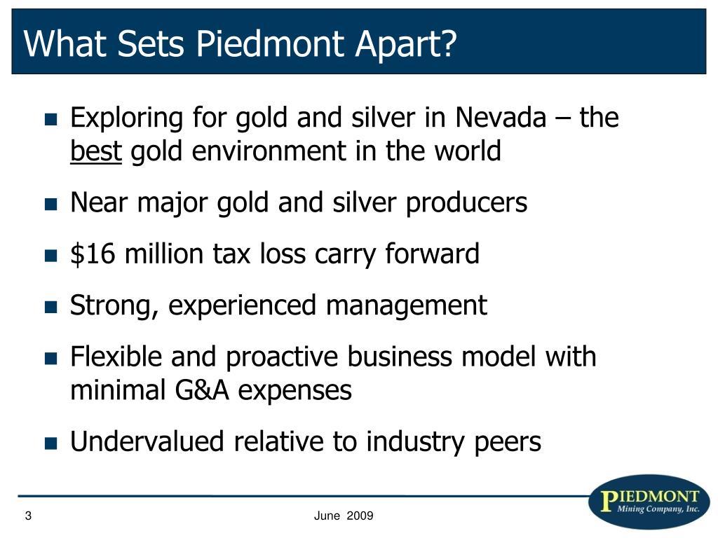 What Sets Piedmont Apart?