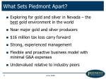 what sets piedmont apart