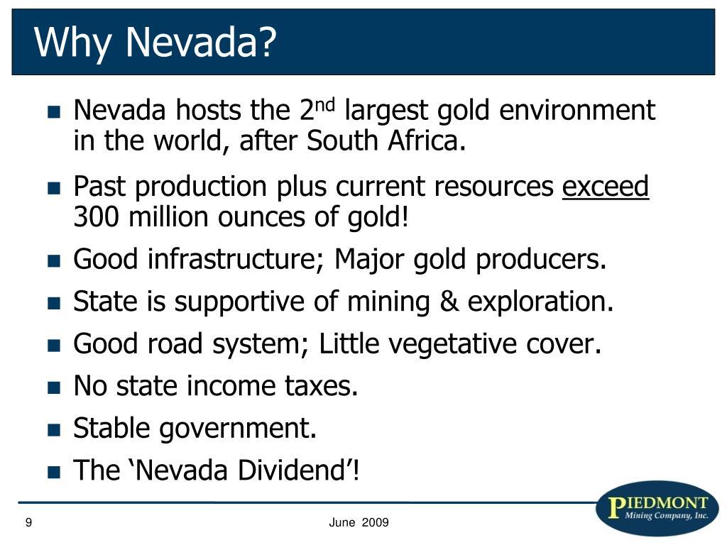 Why Nevada?