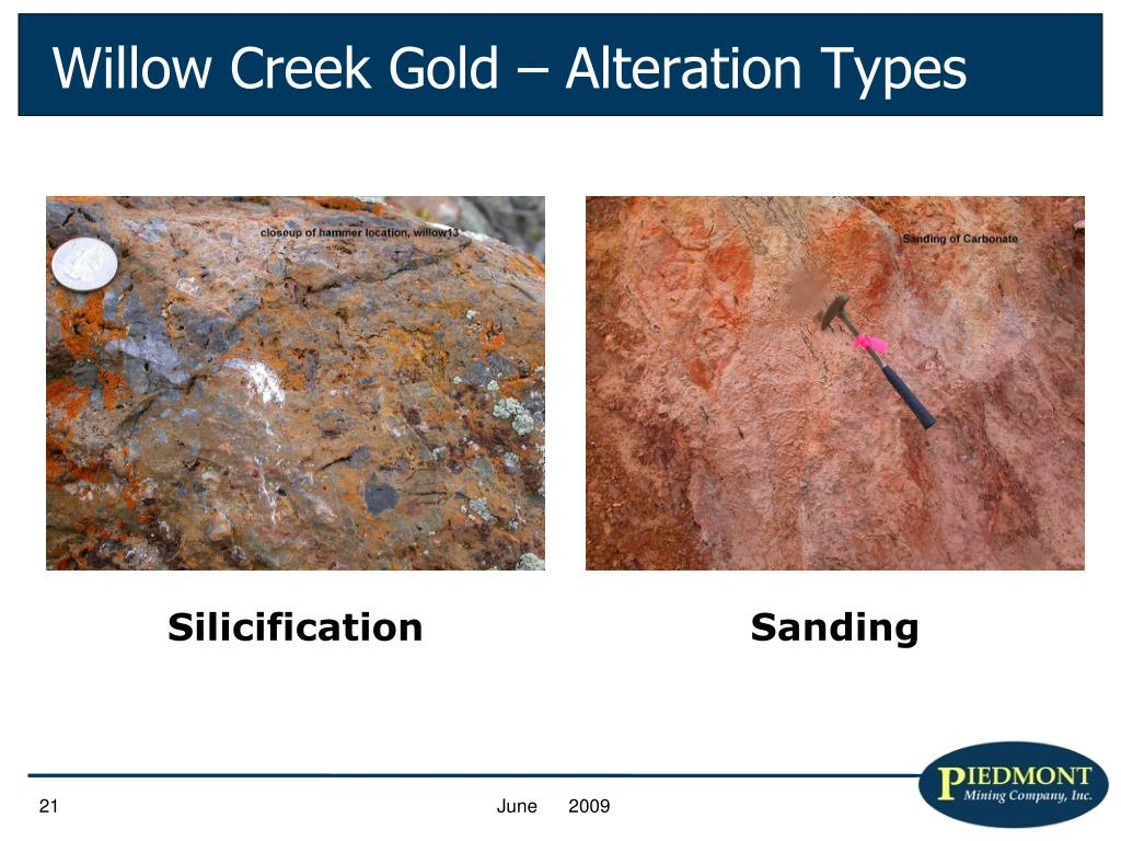 Willow Creek Gold – Alteration Types