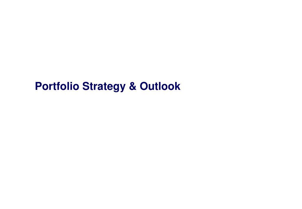 Portfolio Strategy & Outlook