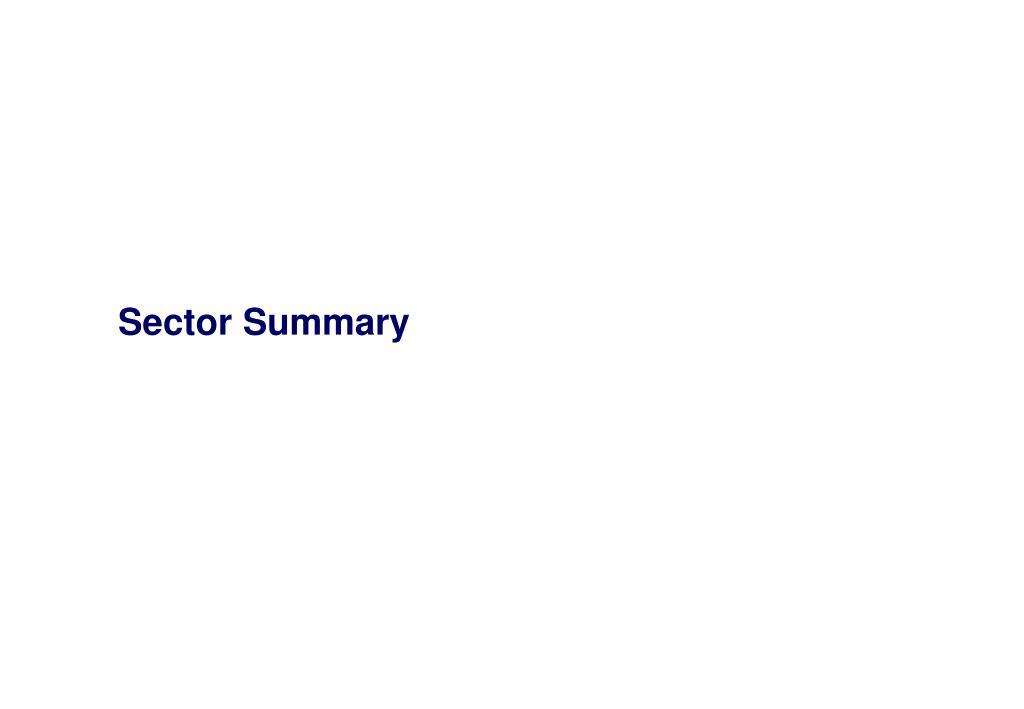 Sector Summary
