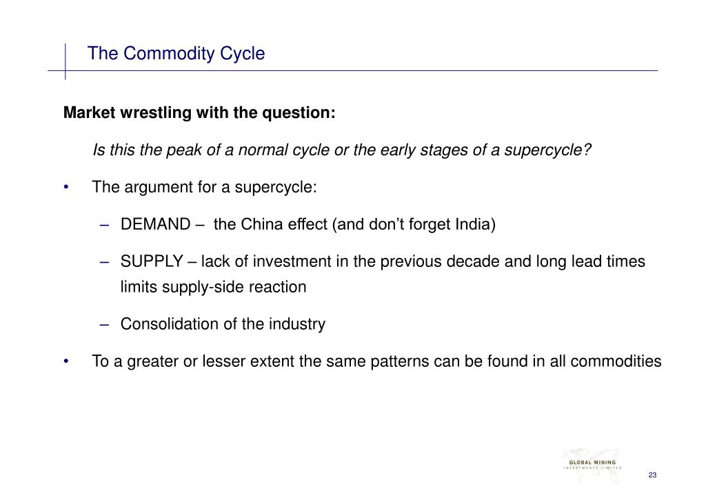 The Commodity Cycle