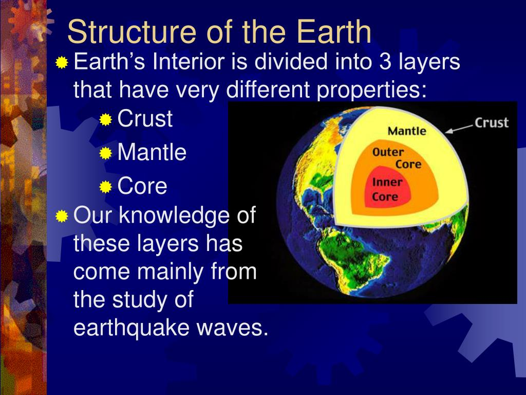 an analysis of the knowledge of the earths interior The inferential knowledge concerning the nature of the interior of the earth has been accumulated by seismic wave analysis d) computer modeling e.