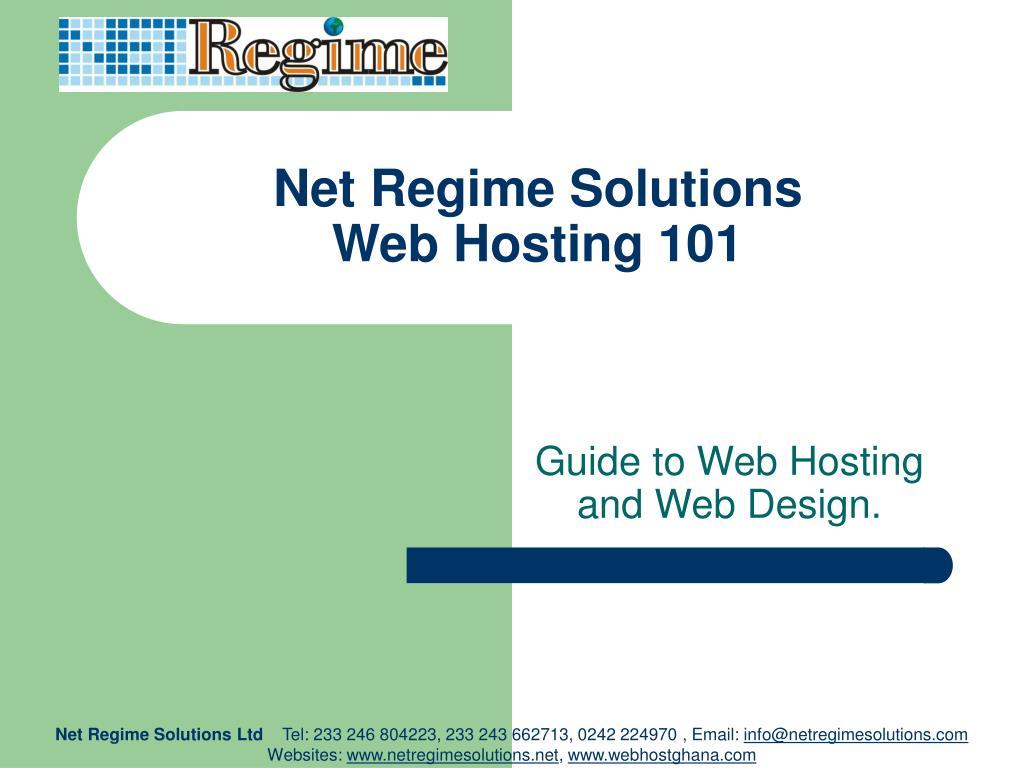 net regime solutions web hosting 101 l.
